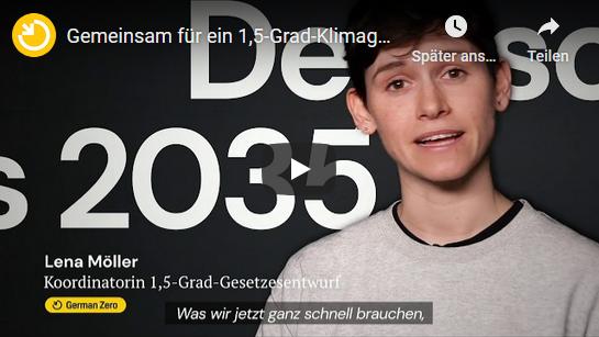 German Zero - 1,5 Grad Klimagesetz