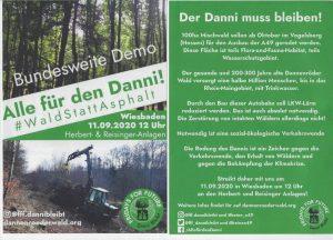 Wald statt Asphalt Demo am 11. September
